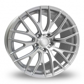 Hub Design V20 Silver Polished Face Alloy Wheels