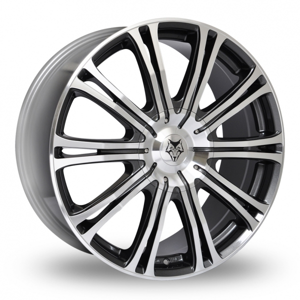 Zoom Wolfrace Wolf_Design_Vermont_Sport Gun_Metal_Polished Alloys