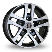 Wolfrace FTR Black Polished Alloy Wheels