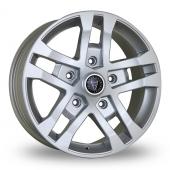 Wolfrace FTR Silver Alloy Wheels