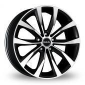 MAK Wolf Black Polished Alloy Wheels