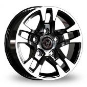 Wolfrace FTR Black Polished Tips Alloy Wheels