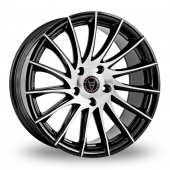 Wolfrace Aero Black Polished Alloy Wheels