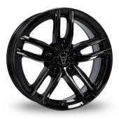 Wolfrace Antares Gloss Black Alloy Wheels