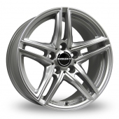 Image for Borbet XRT_Wider_Rear Silver Alloy Wheels