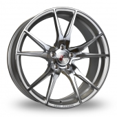 2FORGE ZF2 Silver Polished Face Alloy Wheels