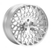 1AV ZX3 Silver Polished Face Alloy Wheels