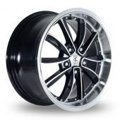AC Wheels Fuji Black Polished Alloy Wheels