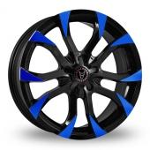 Wolfrace Assassin Black Blue Alloy Wheels