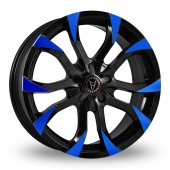 Wolfrace Assassin Black Blue Alloy Wheels