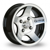 Carre Astro Black Polished Alloy Wheels