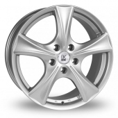Image for BK_Racing 770 Silver Alloy Wheels