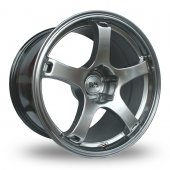 BK Racing 555 Hi Power Silver Alloy Wheels