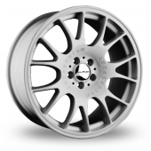 Image for Dare DR-CH_5x100_Wider_Rear Hyper_Silver Alloy Wheels