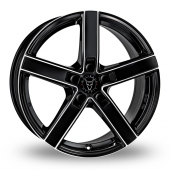 Wolfrace Emotion Black Polished Alloy Wheels