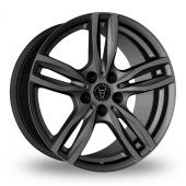 Wolfrace Evolution Gun Metal Alloy Wheels