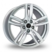 Wolfrace Evolution Silver Alloy Wheels