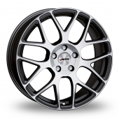 Autec Hexano Black Polished Alloy Wheels