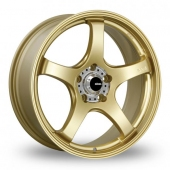 Image for Konig Centigram_Wider_Rear Gold Alloy Wheels
