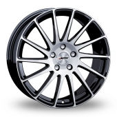 Autec Oktano Black Polished Alloy Wheels