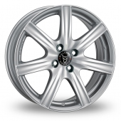 Image for Wolfrace Davos Silver Alloy Wheels