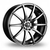 AVA Reno Hyper Black Alloy Wheels