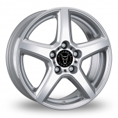 Wolfrace B Silver Alloy Wheels