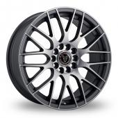 Image for Wolfrace Bayern Gun_Metal_Polished Alloy Wheels