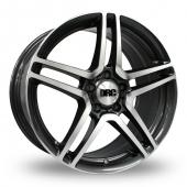 DRC DMG 5x112 Wider Rear Gun Metal Polished Alloy Wheels