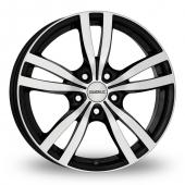 Dezent TC Black Polished Alloy Wheels