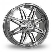 Image for BK_Racing 712 Gun_Metal_Polished Alloy Wheels