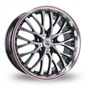 Image for BK_Racing 861 Red Alloy Wheels