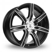 Image for BK_Racing 808 Black_Polished Alloy Wheels