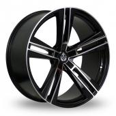 Axe EX21 Black Polished Alloy Wheels