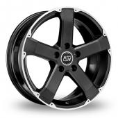 Image for MSW_(by_OZ) 45 Matt_Black Alloy Wheels