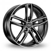 Image for MSW_(by_OZ) 26 Matt_Titanium_Polished Alloy Wheels