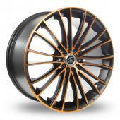 AC Wheels Xela Black Orange Alloy Wheels