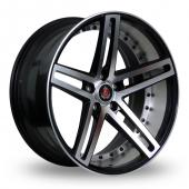Image for Axe EX20_5x120_Low_Wider_Rear Black_Polished Alloy Wheels