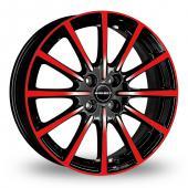 Borbet BL4 Black Red Alloy Wheels