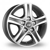 CW by Borbet CWD Anthracite Polished Alloy Wheels