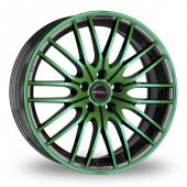 Image for CW_(by_Borbet) CW4 Black_Green Alloy Wheels