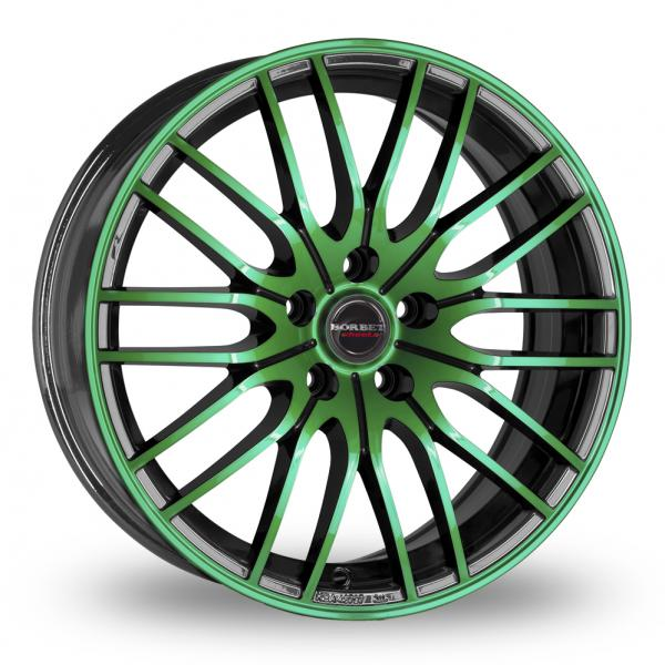 Zoom CW_(by_Borbet) CW4 Black_Green Alloys