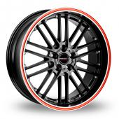 CW by Borbet CW2 R 5 Black Red Alloy Wheels
