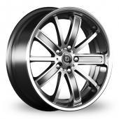 Diewe Sogno Grey Polished Alloy Wheels