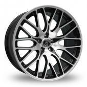 Diewe Fina Black Polished Alloy Wheels