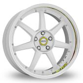 Image for Dotz Fast_Seven_Drift_5x114_Wider_Rear White_Polished Alloy Wheels