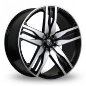Axe EX22 Black Polished Alloy Wheels