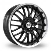 Image for BK_Racing 866 Black Alloy Wheels