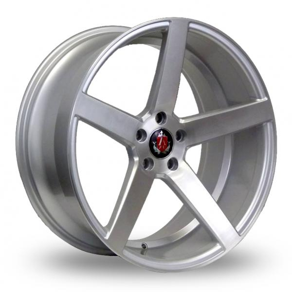 Zoom Axe EX18_5x112_Wider_Rear Silver_Polished Alloys