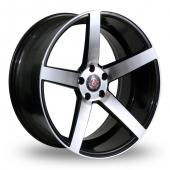 Image for Axe EX18_5x114_Wider_Rear Black_Polished Alloy Wheels